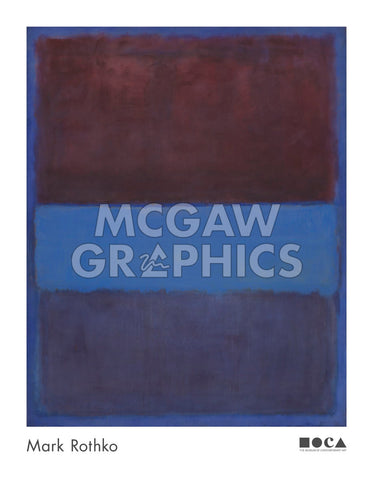 No. 61 (Rust and Blue) [Brown Blue, Brown on Blue], 1953 -  Mark Rothko - McGaw Graphics