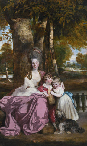 Lady Elizabeth Delmé and Her Children, from 1777 until 1779 -  Sir Joshua Reynolds - McGaw Graphics