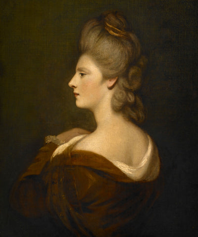 Portrait of a Woman presumed to be Mrs. James Fox, c 1775-1780 -  Sir Joshua Reynolds - McGaw Graphics