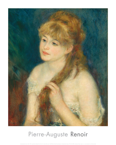 Young Woman Braiding Her Hair, 1876 -  Pierre-Auguste Renoir - McGaw Graphics