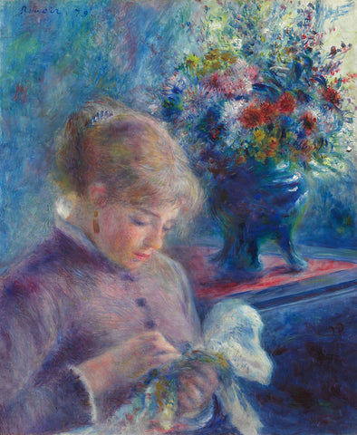 Young Woman Sewing, 1879 -  Pierre-Auguste Renoir - McGaw Graphics