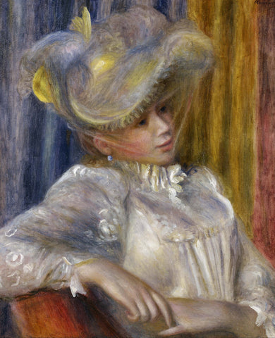 Woman with a Hat, 1891 -  Pierre-Auguste Renoir - McGaw Graphics