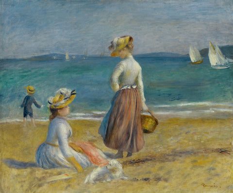 Figures on the Beach, 1890 -  Pierre-Auguste Renoir - McGaw Graphics