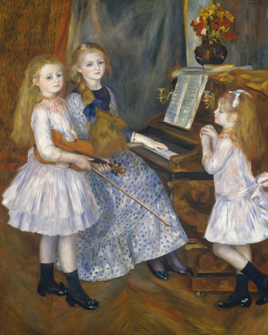 The Daughters of Catulle Mendes, 1888 -  Pierre-Auguste Renoir - McGaw Graphics