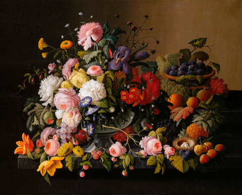 Still Life: Flowers and Fruit, 1850–55 -  Severin Roesen - McGaw Graphics