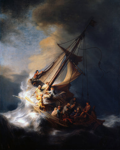 The Storm on the Sea of Galilee, 1633 -  Rembrandt - McGaw Graphics