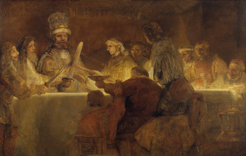 The Conspiracy of the Batavians under Claudius Civilis, between 1661 and 1662 -  Rembrandt - McGaw Graphics
