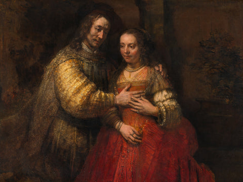 Portrait of a couple as figures from the Old Testament, known as 'The Jewish bride', circa 1665-1669 -  Rembrandt - McGaw Graphics