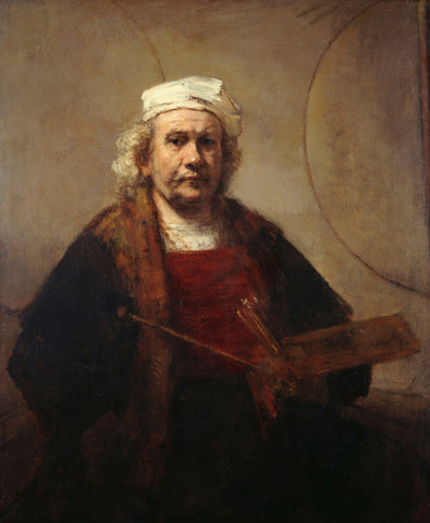 Self-Portrait with Two Circles, 1659-1665 -  Rembrandt - McGaw Graphics