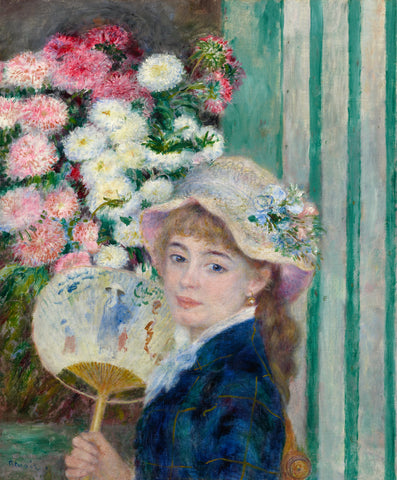 Woman with a Fan, c. 1879 -  Pierre-Auguste Renoir - McGaw Graphics