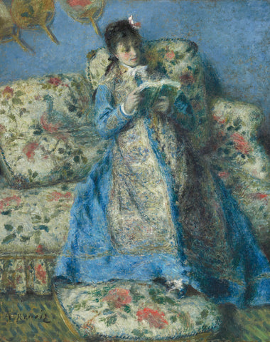 Portrait of Madame Monet (Madame Claude Monet Reading), c. 1874