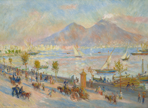 Bay of Naples, Evening, 1881 -  Pierre-Auguste Renoir - McGaw Graphics