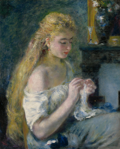 Woman Crocheting, c. 1875 -  Pierre-Auguste Renoir - McGaw Graphics