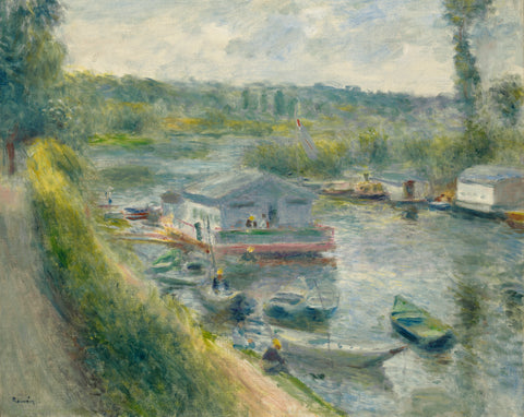 Wash-House Boat at Bas-Meudon, c. 1874 -  Pierre-Auguste Renoir - McGaw Graphics