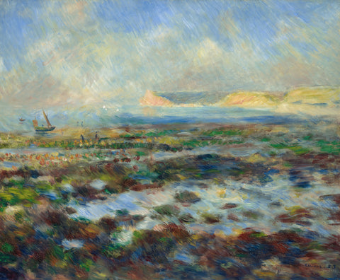 Low Tide, Yport, 1883 -  Pierre-Auguste Renoir - McGaw Graphics