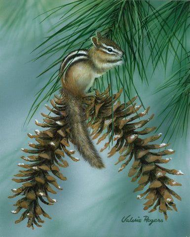 Chipmunk Perch -  Valerie Rogers - McGaw Graphics