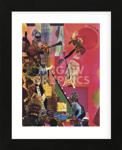 The Blues, 1974  (Framed) -  Romare Bearden - McGaw Graphics