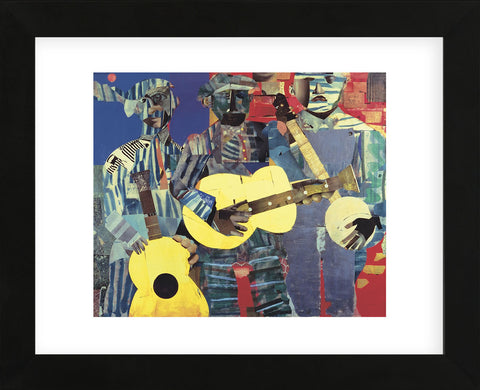 Three Folk Musicians, 1967  (Framed) -  Romare Bearden - McGaw Graphics