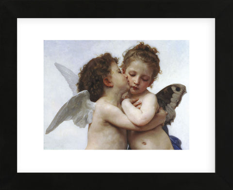 The First Kiss  (Framed) -  William-Adolphe Bouguereau - McGaw Graphics