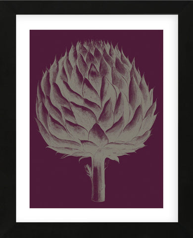 Artichoke (plum-grey) (Framed) -  Botanical Series - McGaw Graphics