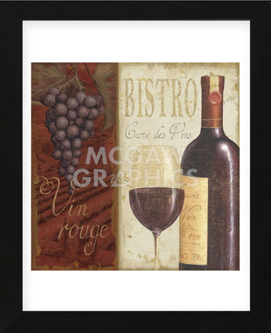 Wine List I (Framed) -  Daphné B - McGaw Graphics