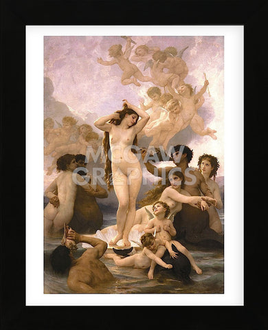 The Birth of Venus (Framed) -  William-Adolphe Bouguereau - McGaw Graphics
