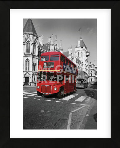 Red Bus London (Framed) -  Chris Bliss - McGaw Graphics
