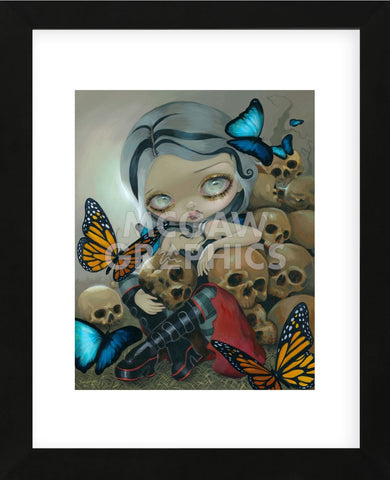 Butterflies and Bones (Framed) -  Jasmine Becket-Griffith - McGaw Graphics