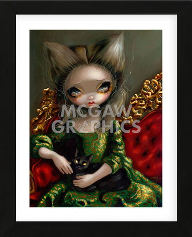 Princess with a Black Cat (Framed) -  Jasmine Becket-Griffith - McGaw Graphics
