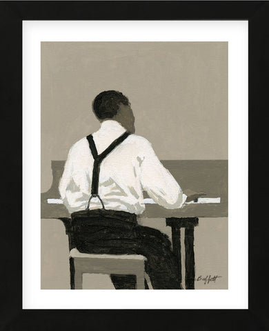 Piano Player (Framed) -  William Buffett - McGaw Graphics
