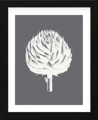 Artichoke (Gray & Ivory) (Framed) -  Botanical Series - McGaw Graphics