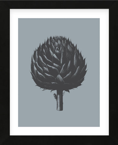 Artichoke (Slate & Ink) (Framed) -  Botanical Series - McGaw Graphics