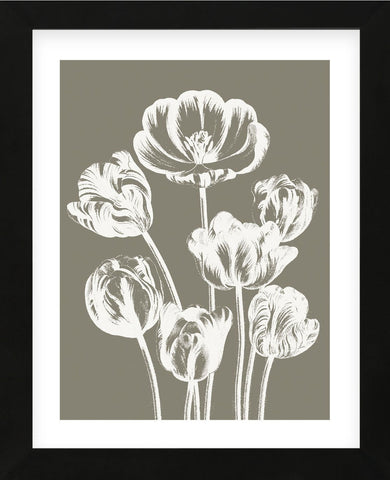 Tulips (Burlap & Ivory) (Framed) -  Botanical Series - McGaw Graphics