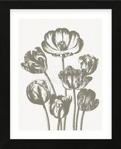 Tulips (Ivory & Burlap) (Framed) -  Botanical Series - McGaw Graphics