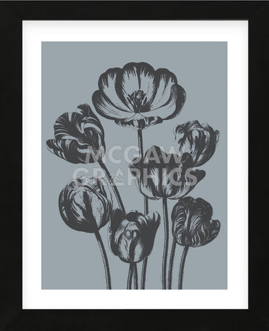 Tulips (Slate & Ink) (Framed) -  Botanical Series - McGaw Graphics