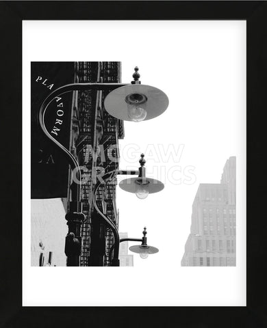 Lamps (B&W)  (Framed) -  Erin Clark - McGaw Graphics