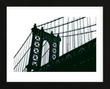 Manhattan Bridge Silhouette  (Framed) -  Erin Clark - McGaw Graphics