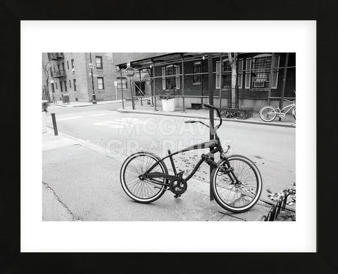 Village Bicycle (b/w)  (Framed) -  Erin Clark - McGaw Graphics