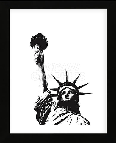 Statue of Liberty (outline)  (Framed) -  Erin Clark - McGaw Graphics