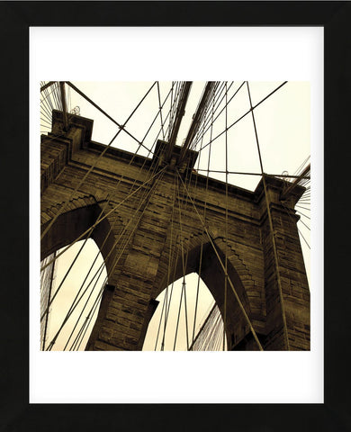 Brooklyn Bridge II (sepia) (detail)  (Framed) -  Erin Clark - McGaw Graphics