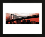 Manhattan Bridge Aura (Framed) -  Erin Clark - McGaw Graphics