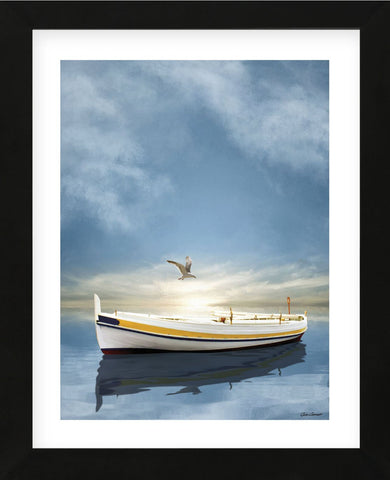 The White Boat in Sunset