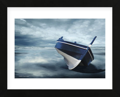 The Solitude of the Sea in Blue (Framed) -  Carlos Casamayor - McGaw Graphics