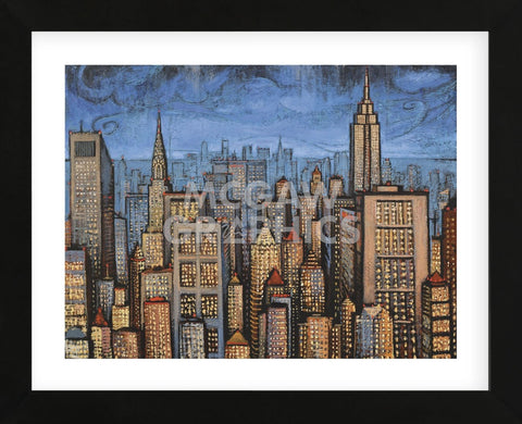 Twilight Skyline (Framed) -  Timothy Craig - McGaw Graphics