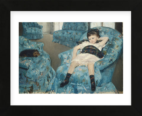 Little Girl in a Blue Armchair, 1878  (Framed) -  Mary Cassatt - McGaw Graphics