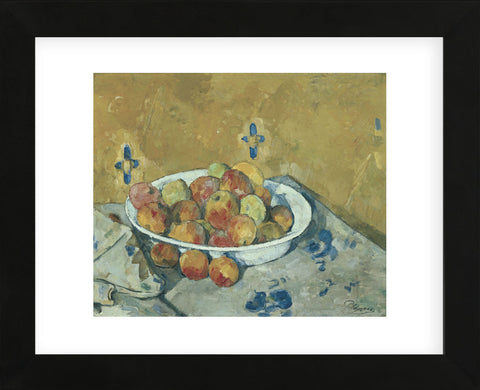 The Plate of Apples, c. 1897  (Framed) -  Paul Cezanne - McGaw Graphics
