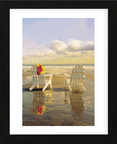 Chairs on the Beach (Framed) -  Carlos Casamayor - McGaw Graphics