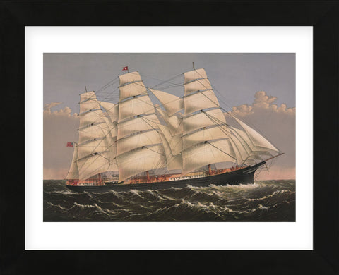 "Currier & Ives - Clipper Ship ""Three Brothers"", ca. 1875"