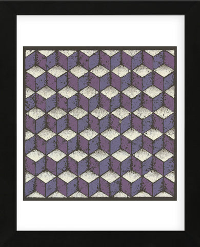Tumbling Blocks - Plum (Framed) -  Susan Clickner - McGaw Graphics
