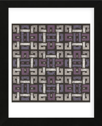 Large Knotted Weave - Plum (Framed) -  Susan Clickner - McGaw Graphics